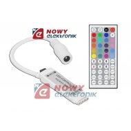 Sterownik LED RGB Mini 3x2A IR 44 przyciski