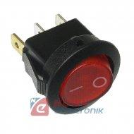 Przełącznik podśw.okr.230V czer. SW01AC