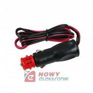 Wtyk zapalniczki z przewodem (*) 12V-24V 5A +bezpiecznik LAMPA