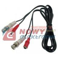 Kabel wt.BNC + wtyk DC 1.8m