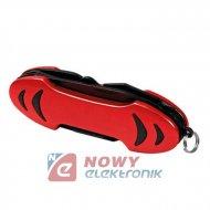 Narzędzie Mutlitool 10 red (czerwony) scyzoryk nóż LAMPA
