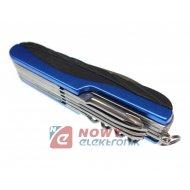 Narzędzie Mutlitool 15in1 blue (niebieski) scyzoryk nóż LAMPA