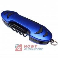 Narzędzie Mutlitool 10 blue (niebieski) scyzoryk nóż LAMPA