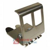 Uchwyt mocujący na szynie TS35 DIN, podwójne, metal keystone