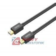 Kabel mini Displayport/m.Displ.3 Y-C614BK wt.mini DP/wt.mini DP