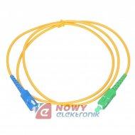 Patchcord światłowód 9/125 1m SC/APC-SC/UPC zielony/niebieski