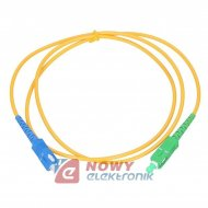 Patchcord światłowód 9/125 3m SC/APC-SC/UPC zielony/niebieski