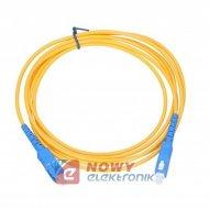 Patchcord światłowód 9/125 3m SC/UPC-SC/UPC niebieski-niebieski