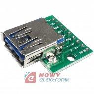 Gniazdo USB-A do płytki prototyp owej 3.0