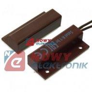 Kontaktron alarm. K-1BR boczny brązowy Satel Czujnik kontaktronowy