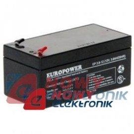 Akumulator 12V-3,6Ah          EP EUROPOWER JAPAN TECH.