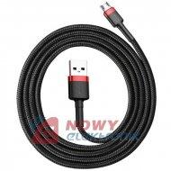 Kabel USB wt.A-micro BASEUS 1m QC3.0 2.4A Black+Red