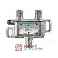 Zwrotnica SAT-TV SWE 20-01 AXING sumator-rozgałęźnik kombiner SINGLE+TV
