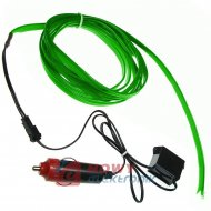 Pasek Neon samochodowy 1m zielon EL WIRE światłowód do wnętrza samochodu