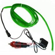 Pasek Neon samochodowy 2m zielon EL WIRE światłowód do wnętrza samochodu