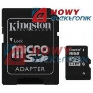 Karta pamięci micro SDHC 16GB KI KINGSTON Class 10 z adapt.SD UHS-I
