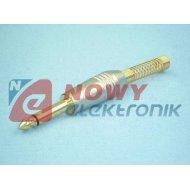 Wtyk JACK 6,3mm MONO nikiel na kabel typ 69