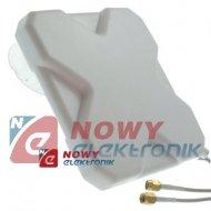 Antena GSM/LTE4G 3G DUAL 40dbi 2xSMA kabel 5m UMTS biała do szyby Mimo