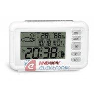 Stacja pogody SP-12 biała  temp. wilgotność zegar(budzik)/kalendarz