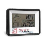 Stacja pogody SP-14 czarna temp. wilgotność zegar(budzik)/kalendarz