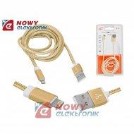 Kabel USB-Apple iPhone/8p 1m zł. złoty  ipad