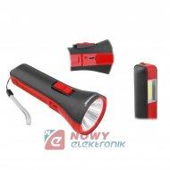 Latarka ręczna LED TS1851 z akum 1200mAh 3W