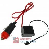 Przetwornica do Neon 12V mała EL WIRE światłowód 12V od 1m do 5m
