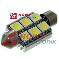 DIODA LED C5W 36mm 6xSMD5050 CAN CANBUS  Biała 12V