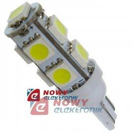 Dioda LED T10 9SMD5050  W 12V W5W  Biała 12V
