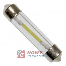 DIODA LED C5W 41mm filament szkl Biała 12V