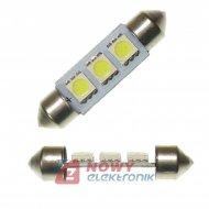 Dioda LED C5W 41mm 3xSMD5050 Biała 12V