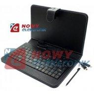 """Etui na Tablet 7"""" z kl. microUSB z klawiaturą uniwers."""