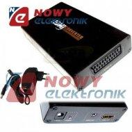 Konwerter sygnału EURO/HDMI  wejscie SCART/wyjscie HDMI