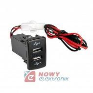 Ładowarka USB 12-24V SCANIA dedykowana montażowa LAMPA