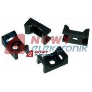 Podstawka montażowa MOPP 03 UV czarn.mocowanie uchwyt opaski zaciskowej