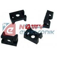 Podstawka montażowa MOPP 10 UV czarn.mocowanie uchwyt opaski zaciskowej