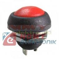 Przełącznik PBS33B Red monostab. OFF-(ON) 3A 125VAC 1A 250V  przycisk