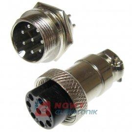Złącze przem. DS-11-10-8B6 8pin (wt+gn)  przemysłowe