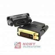 Adapter gn.HDMI - wt. DVI-I 24+5 pin NEPOWER przejście