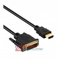 Kabel HDMI-DVI 3m (24+1pin) NEPOWER