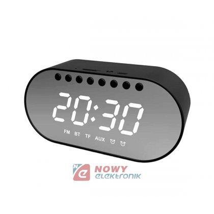 Budzik Cyfrowy LCD głośnik BT LED Zegar