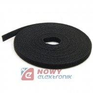 Taśma rzepowa 9mm 5m czarna organizer kabli