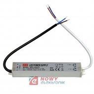 Zasilacz ZI LED 12V/2A IP67 EK 25W Impulsowy aluminium