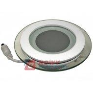 Lampa panel LED Tiki 6W ciepły (*) okrągły biały 230VAC 3000K