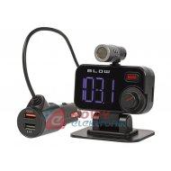 Transmiter FM BLOW Bluetooth LCD +ładowarka/USB/zestaw głośn.
