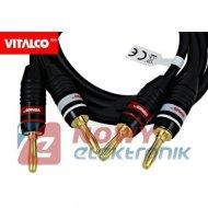 Przewody pomiarowe przyłącze miernika 2*banan 1m Vitalco