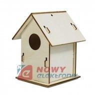Domek dla ptaków do malowania 2 Drewniany