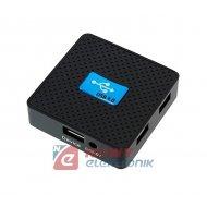 HUB USB 3.0 4-portowy AKTYWNY A z możliwością podł.zasilacza