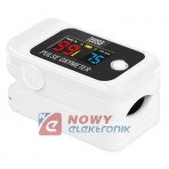 Pulsoksymetr napalcowy BT PX70 Tętno, pomiar natlenienia krwi
