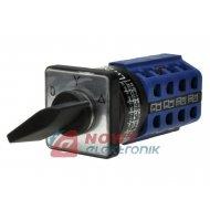 Przełącznik obr.LW-2610 3poz.60° OFF-ON-ON 3tory/4warstwy, 30x30mm